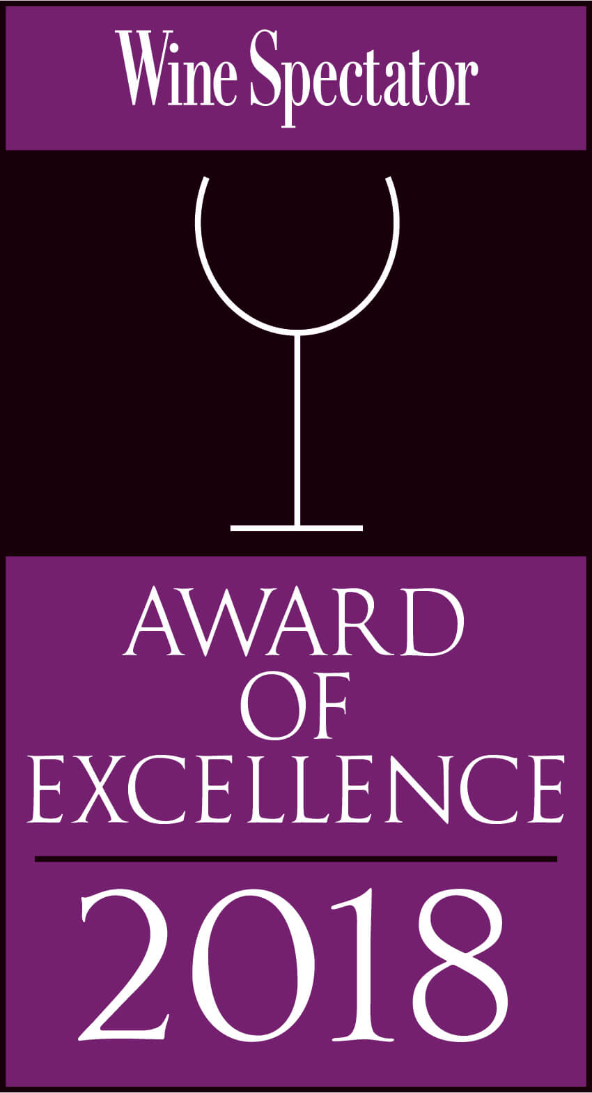 Wine Spectator | Best Award of Excellence 2017
